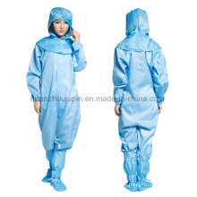 OEM Polyester Industry Chemical Anti Static Dust Protective Clothing